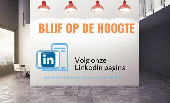 Volg onze LinkedIn pagina